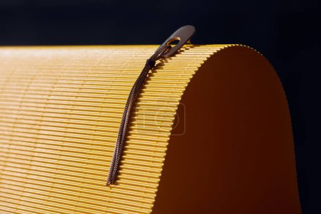 beautiful earring on yellow and black striped surface
