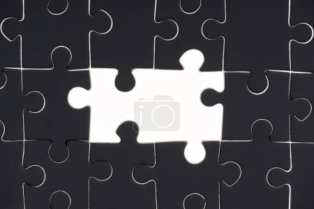 full frame of black and white puzzles backdrop