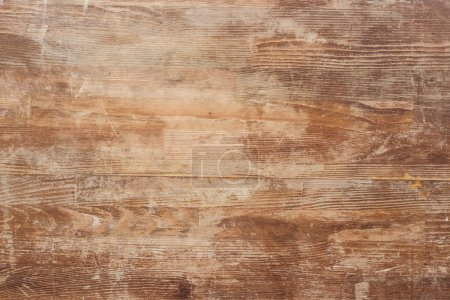 Photo for Empty old brown wooden table background - Royalty Free Image