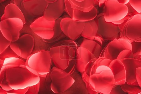 decorative red heart shaped petals, valentines day background