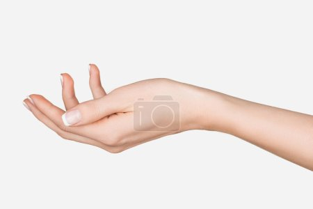 Photo for Close up view of female hand isolated on white - Royalty Free Image