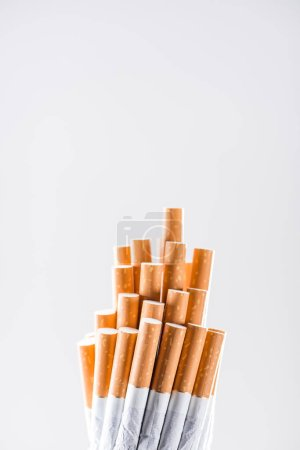 Photo for Studio shot of cigarettes isolated on grey - Royalty Free Image