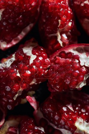 Photo for Close up shot of ripe cut pomegranates - Royalty Free Image