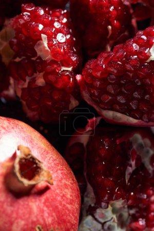 Photo for Close up shot of tasty ripe pomegranates - Royalty Free Image