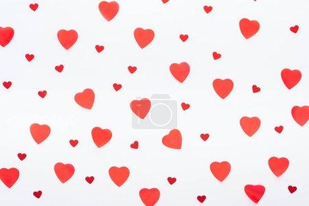 Photo pour Fond de multiples coeurs papier isolé sur blanc, st Valentin concept - image libre de droit