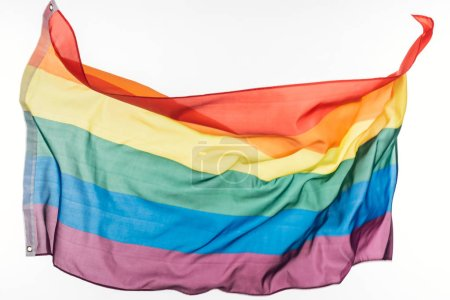 Photo for Lgbt pride rainbow flag isolated on white - Royalty Free Image
