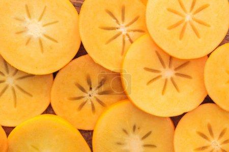 Foto de Vista superior de la naranja corta caquis sabrosas y dulce - Imagen libre de derechos
