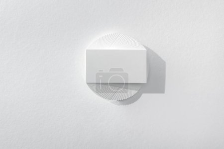 Photo for Top view of empty card on white background - Royalty Free Image
