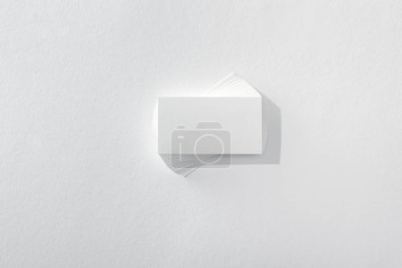 Photo for Top view of blank card on white background with copy space - Royalty Free Image