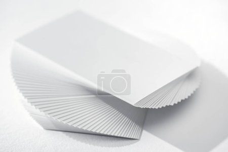 Photo for Blank card on white background with copy space - Royalty Free Image