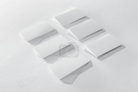 Photo for Empty cards on white background with copy space - Royalty Free Image