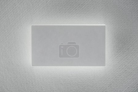 top view of blank card on white background with copy space
