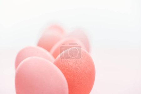 Photo for Selective focus of pastel pink easter eggs - Royalty Free Image