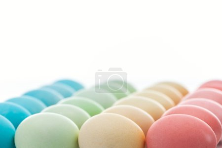 Photo for Traditional colorful easter eggs isolated on white - Royalty Free Image