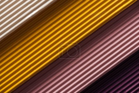 Photo for Close up of white, yellow, pink, purple papers with copy space - Royalty Free Image
