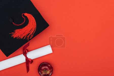 Top view of academic cap