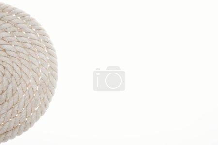Photo pour Corde de long blanc et tordu isolé sur blanc - image libre de droit