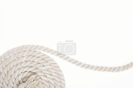 Foto de Blanco, larga y trenzada de cuerda aislada en blanco - Imagen libre de derechos