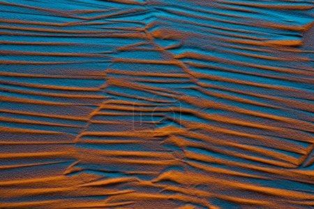 Photo pour Vue du dessus de l'arrière-plan abstrait avec lignes et filtre de couleur - image libre de droit