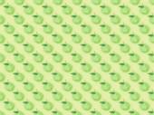 """Постер, картина, фотообои """"верхний вид текстурированный узор с ручной работы бумажные яблоки изолированы на зеленый"""""""