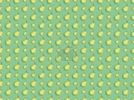 Photo pour Vue du dessus du motif avec des poires en papier à la main isolées sur vert - image libre de droit