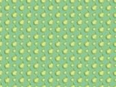 "Постер, картина, фотообои ""top view of pattern with handmade paper pears isolated on green"""