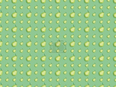 Foto de Vista superior del patrón con peras de papel hechas a mano aisladas en verde - Imagen libre de derechos
