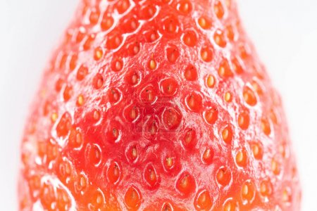 Photo for Close up view of ripe red strawberry on white background - Royalty Free Image