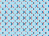 "Постер, картина, фотообои ""seamless background pattern with paper cut decorative mustache made of american national flags on blue """
