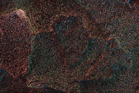 Photo pour Fond abstrait de feuilles texturées brillantes avec éclairage coloré - image libre de droit