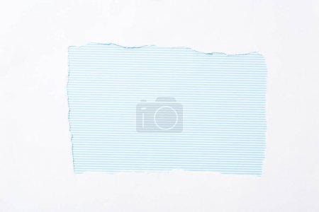 Foto de Azul y blanco a rayas de fondo en el agujero de papel roto blanco - Imagen libre de derechos
