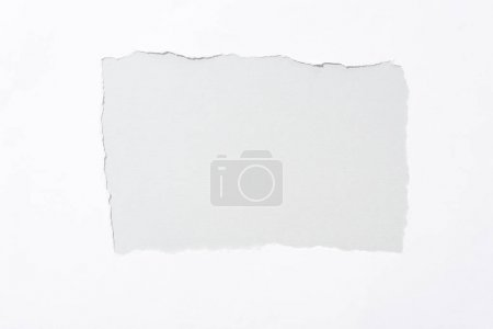 Photo for Grey background in white torn paper hole - Royalty Free Image