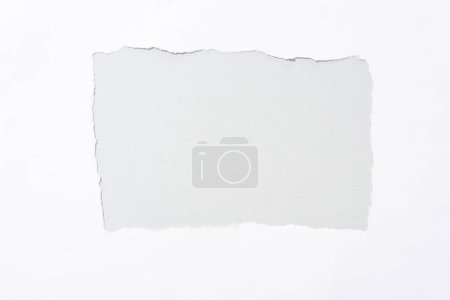 Photo pour Fond gris en papier blanc déchiré trou - image libre de droit