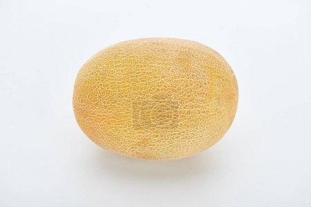 Photo pour Melon jaune mûr entier sur fond blanc - image libre de droit