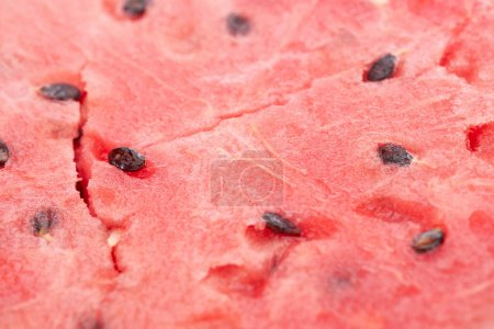 Photo for Close up view of delicious natural watermelon with seeds - Royalty Free Image