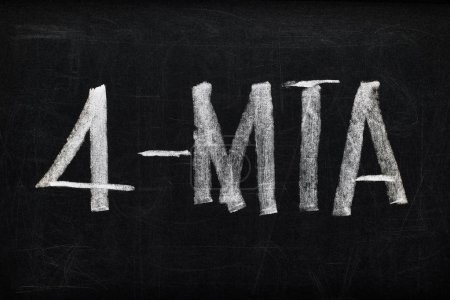 Photo for Top view of black chalk board with lettering 4-mta - Royalty Free Image