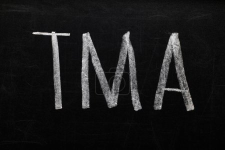 top view of black chalk board with lettering tma