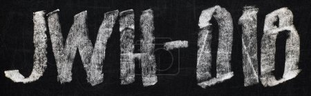Photo for Panoramic shot of black chalk board with lettering jwh-018 - Royalty Free Image