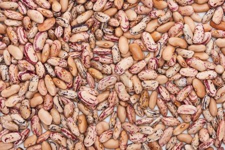 Mischung aus rohen Bio-Bohnen von oben