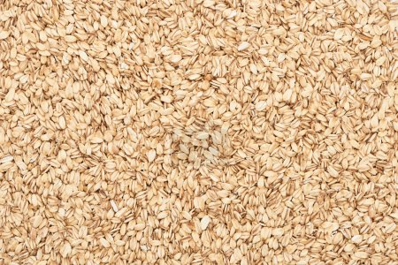 top view of uncooked pressed organic oats