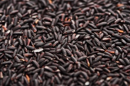 Photo for Close up view of unprocessed organic black rice - Royalty Free Image
