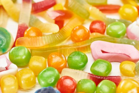 Photo for Close up view of delicious gummy spooky Halloween sweets - Royalty Free Image
