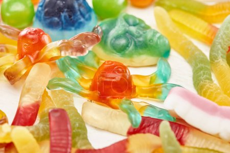 Photo for Close up view of tasty gummy spooky Halloween sweets - Royalty Free Image