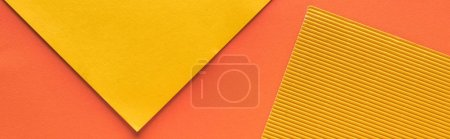 Photo for Top view of yellow and orange background with copy space, panoramic shot - Royalty Free Image