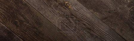 Photo pour Top vue de la texture de bois brun vide, plan panoramique - image libre de droit