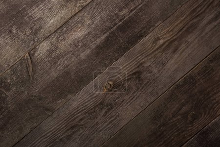 Photo for Top view of empty brown wooden texture - Royalty Free Image