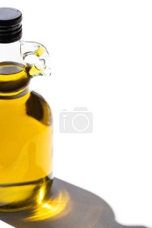 olive oil in bottle on white background