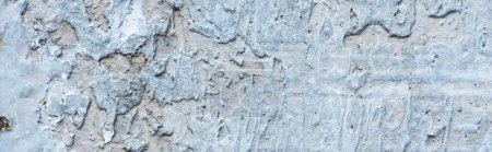 Photo for Rough abstract grey concrete textured wall, panoramic shot - Royalty Free Image