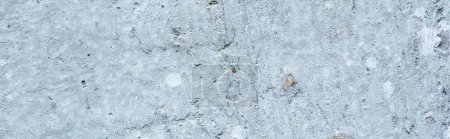 Photo for Rough abstract grey concrete textured surface, panoramic orientation - Royalty Free Image