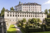 Ambras Castle (Schloss Ambras), a Renaissance castle and palace located in the hills above Innsbruck, Austria